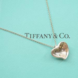 ティファニー Tiffany&Co. ネックレス カーブドハート SV925 シルバーカラー 定番人気|brandvalue-store