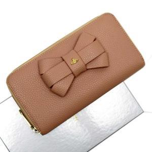 ヴィヴィアンウエストウッド Vivienne Westwood ラウンドファスナー長財布 オーブ レザー ベージュ系xゴールド 定番人気|brandvalue-store