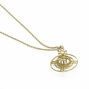 ヴィヴィアンウエストウッド Vivienne Westwood ネックレス オーブ 金属素材xワイヤー ゴールド 定番人気|brandvalue-store