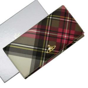 ヴィヴィアンウエストウッド Vivienne Westwood 二つ折り長財布 オーブ PVCxレザー アイボリーxカーキxピンクxイエローxゴールド 定番人気|brandvalue-store