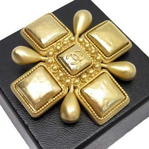 a8583a08294707 シャネル CHANEL ピンブローチ ココマーク 金属素材 ゴールド 定番人気