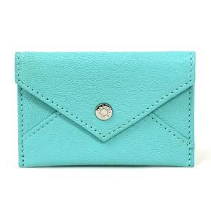 ティファニー Tiffany&Co. カードケース レザー ライトブルー 定番人気|brandvalue-store