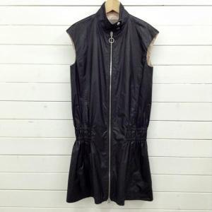 ダブルスタンダードクロージング ジップアップノースリーブワンピース 51B081 黒 / ブラック DOUBLE STANDARD CLOTHING 無地|brandworks|02