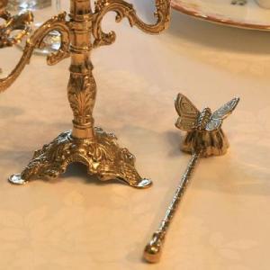 ろうそく 消しA スナッファー 真鍮製品 ブラス イタリア製アンティーク調雑貨キャンドル消し brass-alivio 03