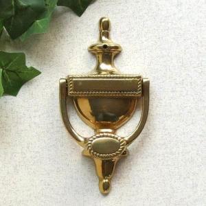 ドアノッカーポット 真鍮製品金色 ブラス イタリア製アンティーク調雑貨|brass-alivio