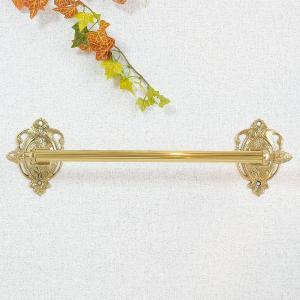 タオルハンガーR39 真鍮製品金色 ブラス イタリア製アンティーク調雑貨|brass-alivio