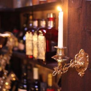 燭台壁掛け1灯R 真鍮製品金色 ブラス イタリア製アンティーク調雑貨キャンドルスタンド|brass-alivio