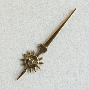 ペーパーナイフ太陽  真鍮製品金色 ブラス イタリア製アンティーク調雑貨|brass-alivio