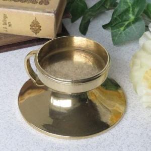 37%off 燭台1灯ピアット 真鍮製品金色 ブラス イタリア製アンティーク調雑貨キャンドルスタンド|brass-alivio