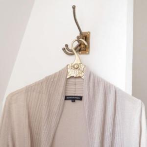ドレスハンガー アンティーク調 真鍮製品金色 ブラス イタリア製アンティーク調雑貨|brass-alivio|02