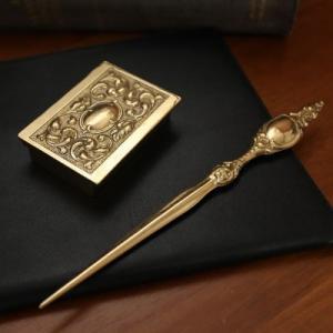 レターセット  真鍮製品金色 ブラス イタリア製アンティーク調雑貨|brass-alivio