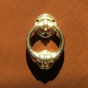 ドアノッカーウイング 真鍮製品金色 ブラス イタリア製アンティーク調雑貨|brass-alivio