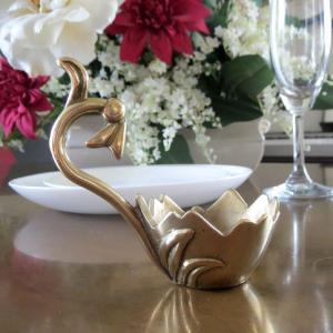 燭台1灯エッグ 真鍮製品金色 ブラス イタリア製アンティーク調雑貨キャンドルスタンド|brass-alivio