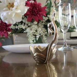 燭台1灯エッグ 真鍮製品金色 ブラス イタリア製アンティーク調雑貨キャンドルスタンド|brass-alivio|03
