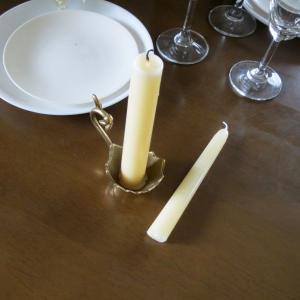 燭台1灯エッグ 真鍮製品金色 ブラス イタリア製アンティーク調雑貨キャンドルスタンド|brass-alivio|04