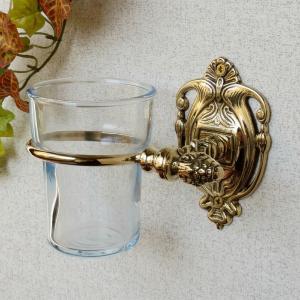 12%OFF 歯ブラシホルダーR  真鍮製品金色 ブラス イタリア製アンティーク調雑貨|brass-alivio