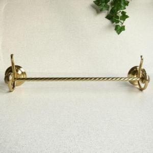 タオルハンガー ロープM 真鍮製品金色 ブラス イタリア製アンティーク調雑貨|brass-alivio
