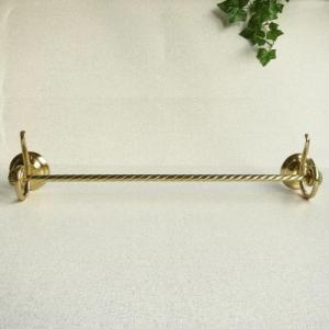 タオルハンガー ロープL 真鍮製品金色 ブラス イタリア製アンティーク調雑貨|brass-alivio