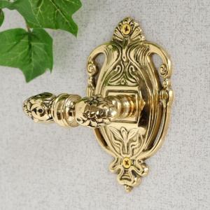 フックR  真鍮製品金色 ブラス イタリア製アンティーク調雑貨|brass-alivio