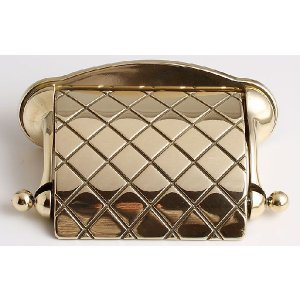 トイレットペーパーホルダー チェック 真鍮製品金色 ブラス イタリア製アンティーク調雑貨|brass-alivio