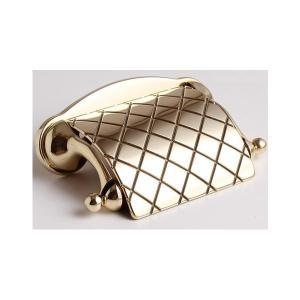 トイレットペーパーホルダー チェック 真鍮製品金色 ブラス イタリア製アンティーク調雑貨|brass-alivio|03