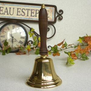 ハンドベルL 真鍮製品 ブラス イタリア製アンティーク調雑貨|brass-alivio