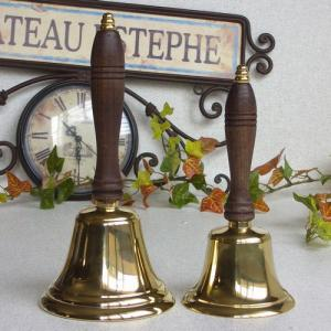 ハンドベルL 真鍮製品 ブラス イタリア製アンティーク調雑貨|brass-alivio|04