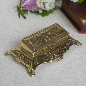 切手ケースB 真鍮製品金色 ブラス イタリア製アンティーク調雑貨|brass-alivio