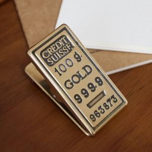 ペーパークリップゴールド 真鍮製品金色 ブラス イタリア製アンティーク調雑貨|brass-alivio