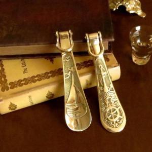 靴べら ヨット 真鍮製品金色 ブラス イタリア製アンティーク調雑貨|brass-alivio