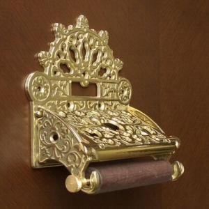トイレットペーパーホルダークラシック 真鍮製品金色 ブラス イタリア製アンティーク調雑貨|brass-alivio|03