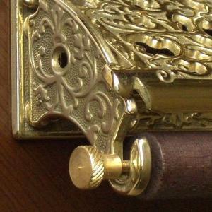 トイレットペーパーホルダークラシック 真鍮製品金色 ブラス イタリア製アンティーク調雑貨|brass-alivio|05