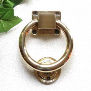 ドアノッカーリング 真鍮製品金色 ブラス イタリア製アンティーク調雑貨|brass-alivio