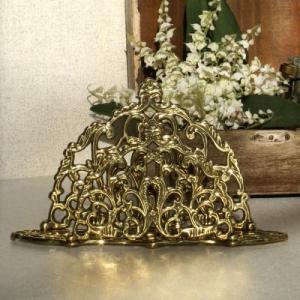 ペーパーホルダーA 真鍮製品金色 ブラス イタリア製アンティーク調雑貨|brass-alivio