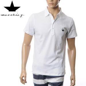 マッキアジェイ Macchia J メンズポロシャツ 半袖 MJPS16 05 ホワイト  ■商品説...