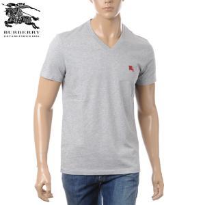 バーバリー BURBERRY VネックTシャツ 半袖 メンズ...