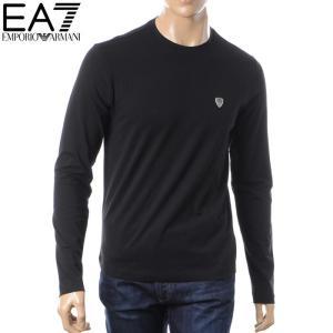 エンポリオアルマーニ EMPORIO ARMANI EA7 クルーネックTシャツ 長袖 メンズ 6YPT95 PJ18Z ブラック