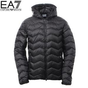 エンポリオアルマーニ EA7 EMPORIO ARMANI ダウンジャケット メンズ アウター ブルゾン 6YPB15 PN22Z ブラック