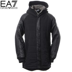 エンポリオアルマーニ EMPORIO ARMANI EA7 ナイロンコート メンズ アウター 6YPK10 PNA0Z ブラック 2017秋冬セール