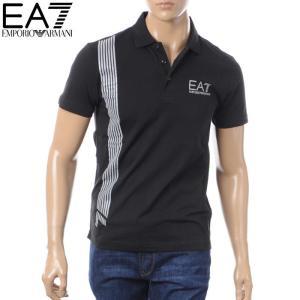 エンポリオアルマーニ EA7 EMPORIO ARMANI ポロシャツ 半袖 メンズ 3ZPF96 PJ02Z ブラック 2018春夏新作