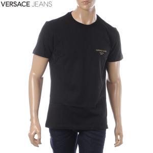 260d7e5ac930 ヴェルサーチ ジーンズ VERSACE JEANS クルーネックTシャツ 半袖 メンズ B3GTB7.