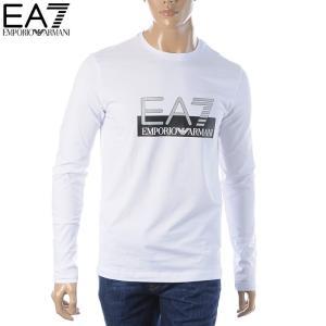 エンポリオアルマーニ EA7 EMPORIO ARMANI クルーネックTシャツ 長袖 メンズ 6G...