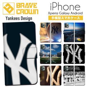 iPhone11 Pro XR iPhone XS Max X 8 7 6s 6 plus SE 5s 5 スマホ ケース アイフォン 手帳型 野球 ニューヨーク ヤンキース NY MLB メジャー イチロー|brave-sports
