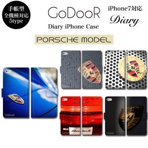 iPhone11 Pro XS Max XR X iPhone 8 7 6s 6 plus SE 5s スマホ ケース 手帳型 カバー ポルシェ PORSCHE 車 エンブレム|brave-sports