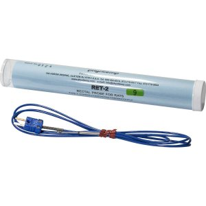 RET-2:熱電対温度センサー ラット直腸温測定、先端部:1.5mm径 x 25mm|brck