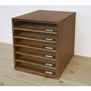 書類ケース レターケース A4 木製 引き出し No.12 書類整理 棚 収納 アンティーク BREA|brea-interior
