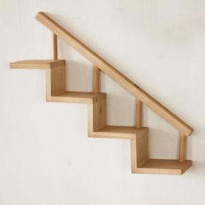 飾り棚 階段棚 小/壁掛け/インテリア/シェルフ/木製/ディスプレイ/BREA|brea-interior