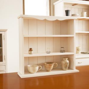 飾り棚 ラック シェルフ ディスプレイ 木製 カントリー棚3段 BREA|brea-interior