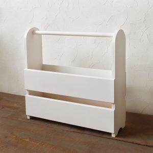 マガジンラック スリム ホワイト おしゃれ インテリア 木製/日本製/BREA|brea-interior
