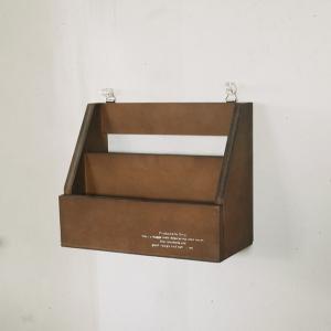 レターラックNo.6 ダークブラウン おしゃれ インテリア 木製 ラック/日本製/BREA|brea-interior